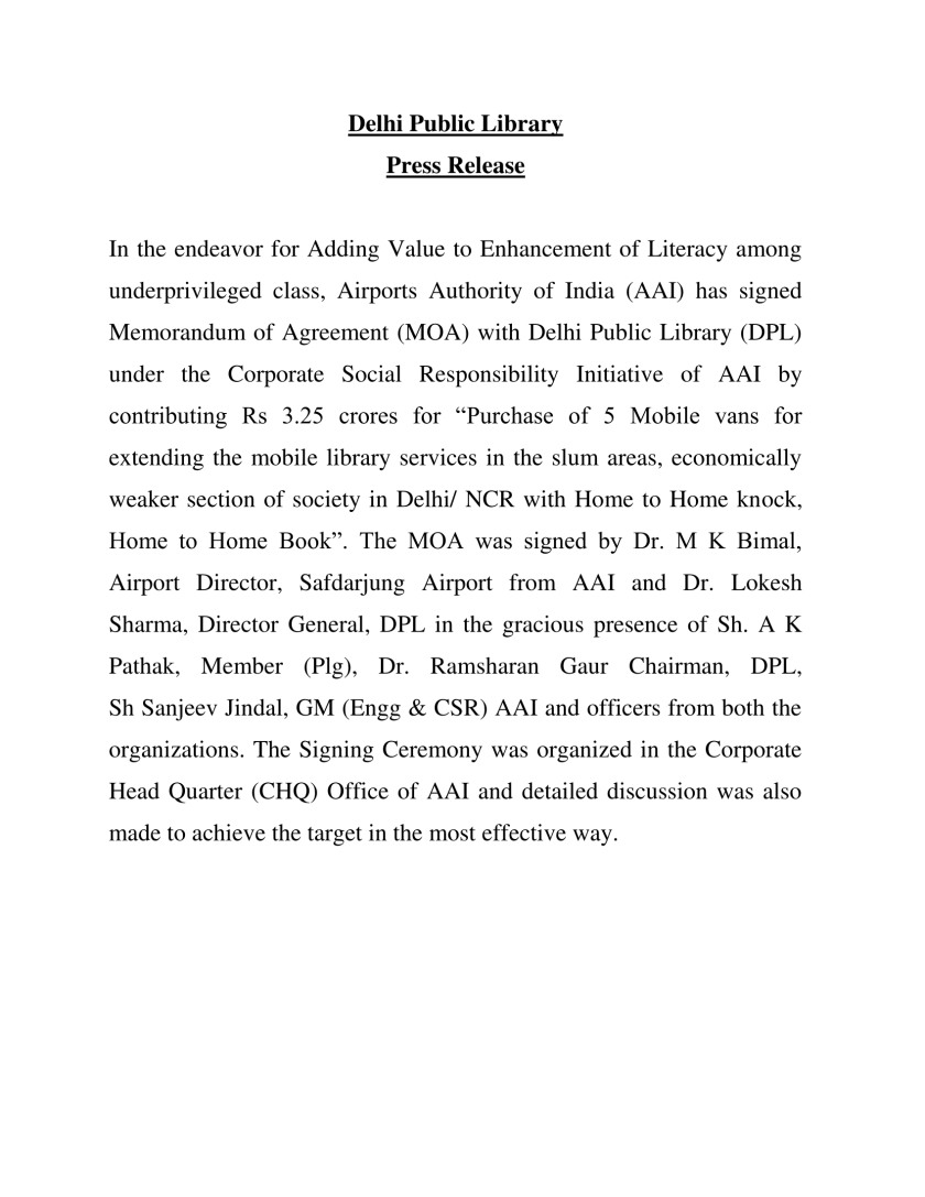 Press Release AAI MOU-1